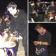 """Drum beats on the beach with the boys... wahooo...#derekhough #markballas#corkyballas"" - November 23, 2016 Courtesy paintvalues IG"