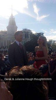 """When you spot celebrities at Disney. @juliannehough @derekhough"" Courtesy Erin Cunningham tw"