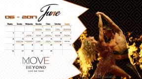 Derek Hough Calendar 2017 - June
