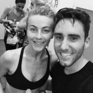 """When you live in LA... you take spin class with @juleshough 😎 #dying #MOVE"" - January 21, 2017 Courtesy philliphead IG"