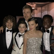 """Stranger things have happened. See what I did th...oki doki I'll be right over here. #goldenglobes2017 #aboutlastnight"" - January 8, 2017 Courtesy derekhough IG"