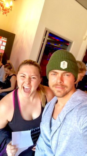 """I am currently more sore than I have been in years. All because of this guy. But so worth it. Can't wait for next time. Thanks @derekhough ❤"" - January 14, 2017 Courtesy thealexislemos twitter"