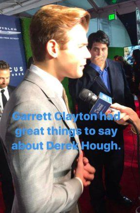 """Garrett Clayton had great things to say about Derek Hough"" - January 8, 2017 Courtesy thekristynburtt IG"