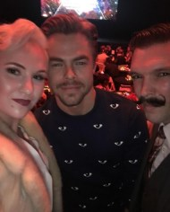 """@worldofdance AWARDS!!!!! It's GOING DOWN!!!!! Our nomination with @derekhough !!!!!!!"" - February 7, 2017 Courtesy caleyandkelsey IG"