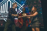 """""""Los Angeles, CA / That awesome moment when you hand @derekhough his award on stage, and @digitalsbyalex captures it perfectly. And of course, shoutout to the best emcee and my great friend, @rickycole_mwc! Always a pleasure working with you. 💛 This was such a great night! - February 7, 2017 Courtesy freshncolleen IG"""