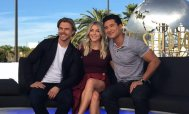 """""""Fun talking #MoveBeyond with Derek & Julianne! Stay tuned for the interview on #ExtraTV!"""" - March 7, 2017 Courtesy extratv twitter"""