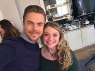 """So much fun to hang out with @derekhough today! Still swooning 😍 #bustle"" - March 21, 2017 Courtesy hayhaymadison twitter"