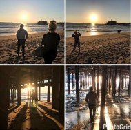 """Enjoying the Healing waters, sand and sunset with my peeps @derekhough and @marabethpoole"" - February 28, 2017 Courtesy marriannhough IG"