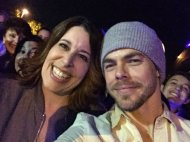 """""""When you meet your favorite and main crush! Thanks for a great show in Lancaster Derek & Julianne 😍 @derekhough @juliannehough"""" - Move Beyond - Lancaster, Pennsylvania - April 29, 2017 Courtesy boyle712 twitter"""