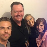 """Great meeting you! Thanks for the Amazing Performance! You guys are the BEST! #juliannehough #derekhough #moveliveontour #movebeyond #jfbackstage"" - Move Beyond - Chicago, Illinois - April 22, 2017 Courtesy johnfuthey IG"