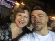 """""""My mom met Derek Hough tonight and I shed a couple tears when she sent me this"""" - Move Beyond - Rochester, New York - April 26, 2017 Courtesy laurenn_worthyy twitter"""