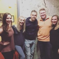 """Great night with family. @kristysowin @steph_k26 @juleshough @derekhough #movebeyondliveontour #juliannesaidshelovedme"" - Move Beyond - Chicago, Illinois - April 22, 2017 Courtesy trinn6 IG"