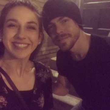 """""""thank you to my mom @auniki2 for surprising me to go see @moveliveontour !!! it was AMAZING!!❤ also thank you to @derekhough for letting me take a pic with you!!!❤❤❤"""" courtesy maeghan.dance ig"""