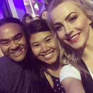 """""""We just met @juleshough!! Thank you for being so kind...Great show tonight...😘🎉👍🏻😮 #movebeyondtour #movebeyond #dancingwiththestars #blessed #juliannehough"""" courtesy vanessa.salonga ig"""