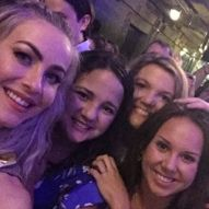 """""""Our night was made! Not only did we get to see Derek & Julianne Hough live for the third time, we also got to meet them. 😍 They put on an amazing show!"""" Courtesy staceyhauseyy ig"""