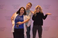 """Haha love my pix w @derekhough @juliannehough the other day @MoheganSun I had no idea what was going on I asked 4 a prom/fun pose lol xoxo"" - Move Beyond - Uncasville, Connecticut - April 30, 2017 Courtesy DHoughLovers twitter"