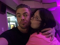 """I actually went for it i literally kissed him @derekhough"" Courtesy MunozMadison tw"