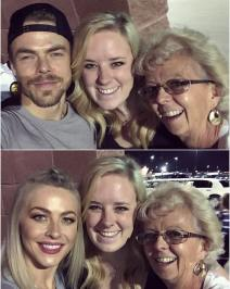"""""""Oh you know, just taking selfies with @derekhough & @juleshough! 😍 #moveliveontour #movebeyond"""" Courtesy sd_photo ig"""