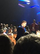 """When your bff is @ the #MoveBeyond show & sends a pic of @derekhough standing 2 rows from her 😭😭 So jealous! Bucket list= meeting him 1 day"" Courtesy @Holliehoooo tw"