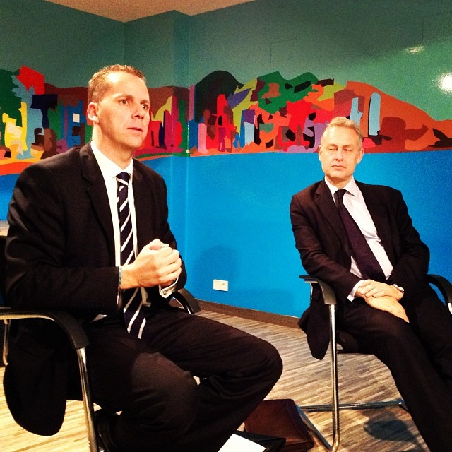 Paul Rodwell, British consul from Alicante and new British  Ambassador to Spain Simon Manley - from Instagram