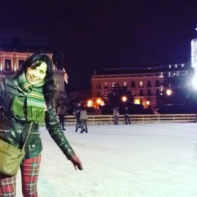 Ice Skating, Palacio Real del Madrid - from Instagram