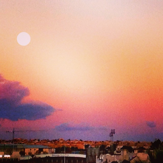 Sunset and full moon - from Instagram