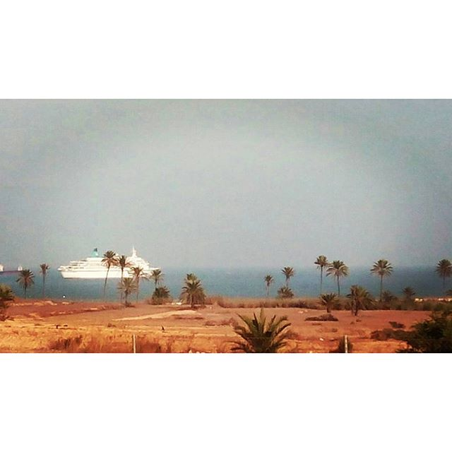 Cruise ship off Torrevieja - from Instagram