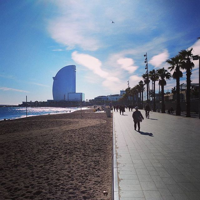 #autohash #Barcelona #Spain #Cataluña #beach #seashore #travel #traveling #visiting #instatravel #instago #water #sea #tourism #people #daylight #landscape #ocean #city #sky #outdoors #tree #building #vacation #architecture #tourist - from Instagram