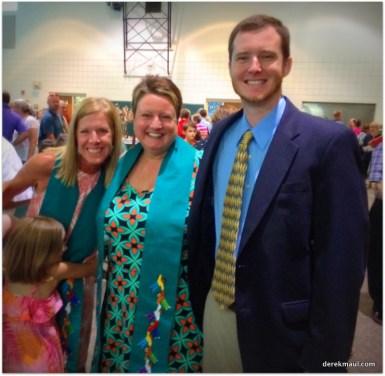 pastor John with Amy and Lisa