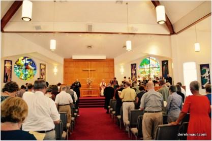 the community worships