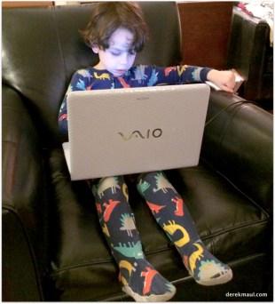 David on grandma's computer