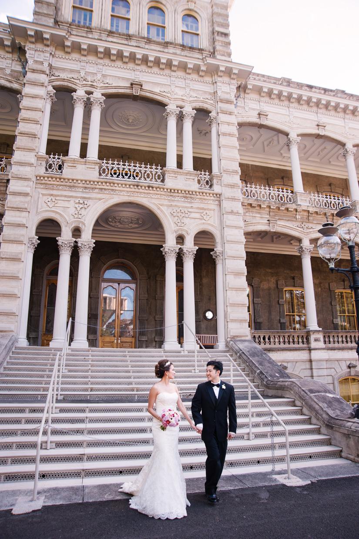 Pauline Amp Michael Iolani Palace Oahu Hawaii Wedding