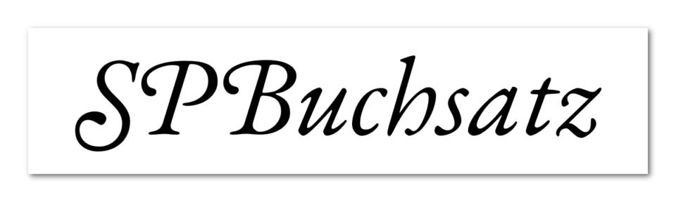"""Das Logo der Software """"SPBuchsatz""""."""