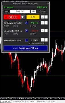 Sell Trade mit dem Master Calculator