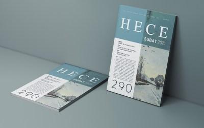 HECE'290 ŞUBAT 2021 SAYISI  2020'DE ŞİİR VE GÜNÜMÜZ ŞİİRİ  DOSYASIYLA ÇIKTI