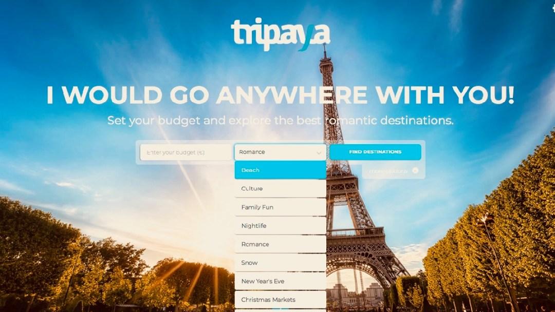 Mit der Website Tripaya kann man gemäss seinen Vorlieben Reisen planen