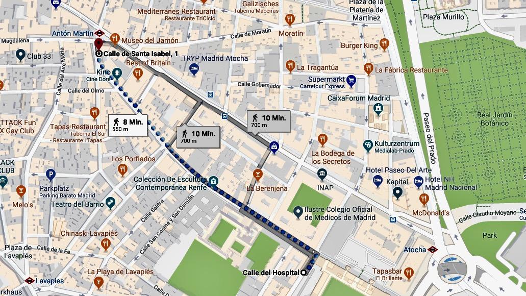 Ein Spaziergang an der Calle de Santa Isabel in Madrid in der Serie Starke Strecke des Reiseblog derInternaut.ch