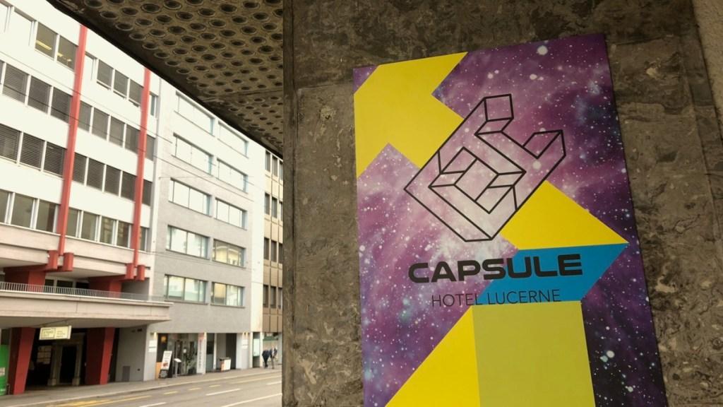 Aussenansicht Capsule Hotel Luzern, Schweiz