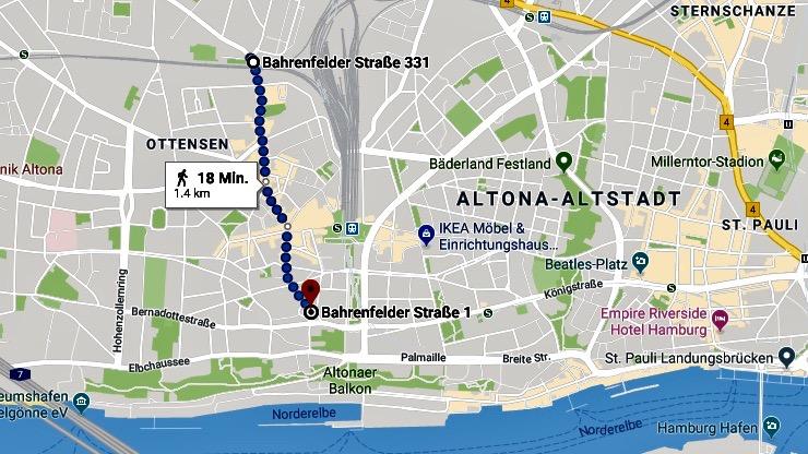 Trendviertel Hamburg Ottensen: Reiseblog Internaut zeigt die Bahrenfelder Strasse