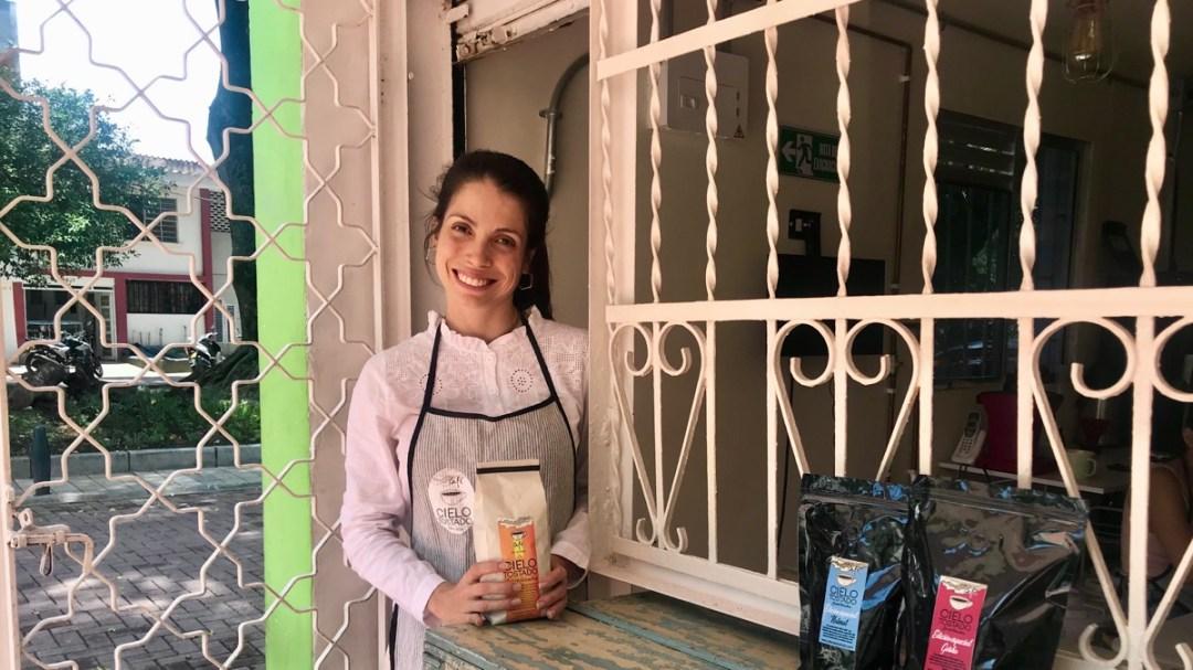 Kaffee geniessen in Medellin Kolumbien