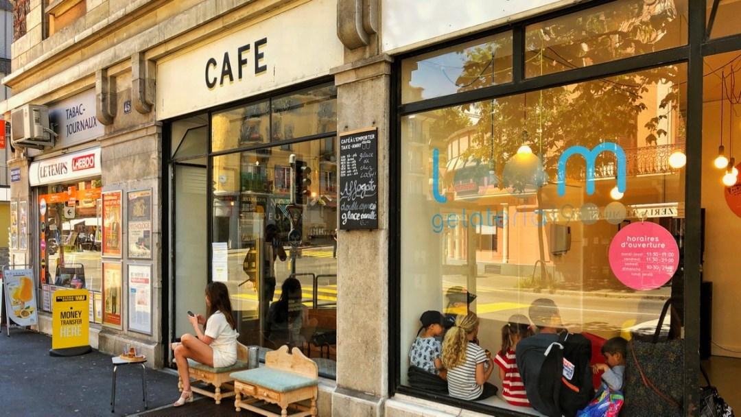 Cafe Ca passe Crème Lausanne Sous-Gare, Boulevard de Grancy