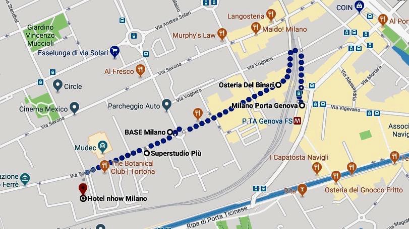 Milano Zona Tortona Plan mit Landkarte