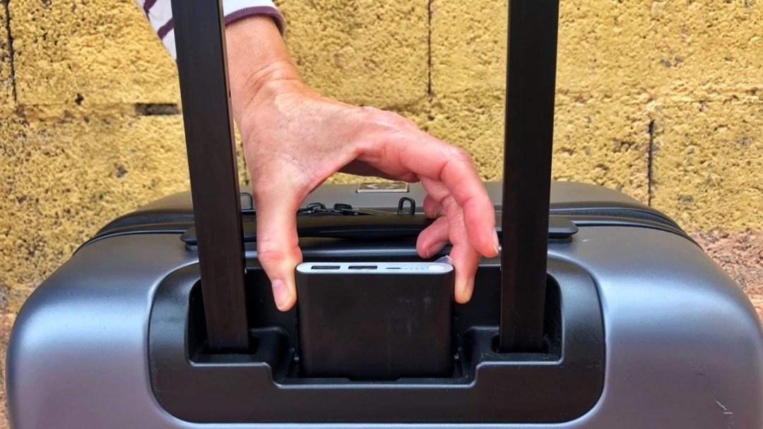 Mobile Powerbank in innovativem Handgepäckstück