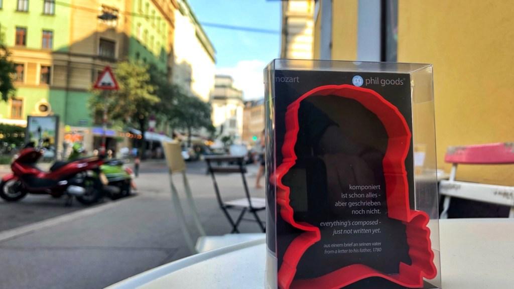 Mitbringsel aus Wien: Keks-Ausstechform Wolfgang Amadeus Mozart