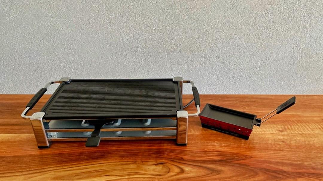 Mini Racletteofen im Test und im Vergleich zu einem herkömmlichen grossen Gerät