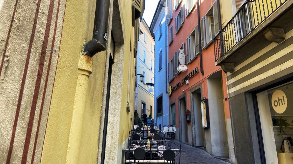 Authentische Altstadt Locarno, entlang der Via della Motta