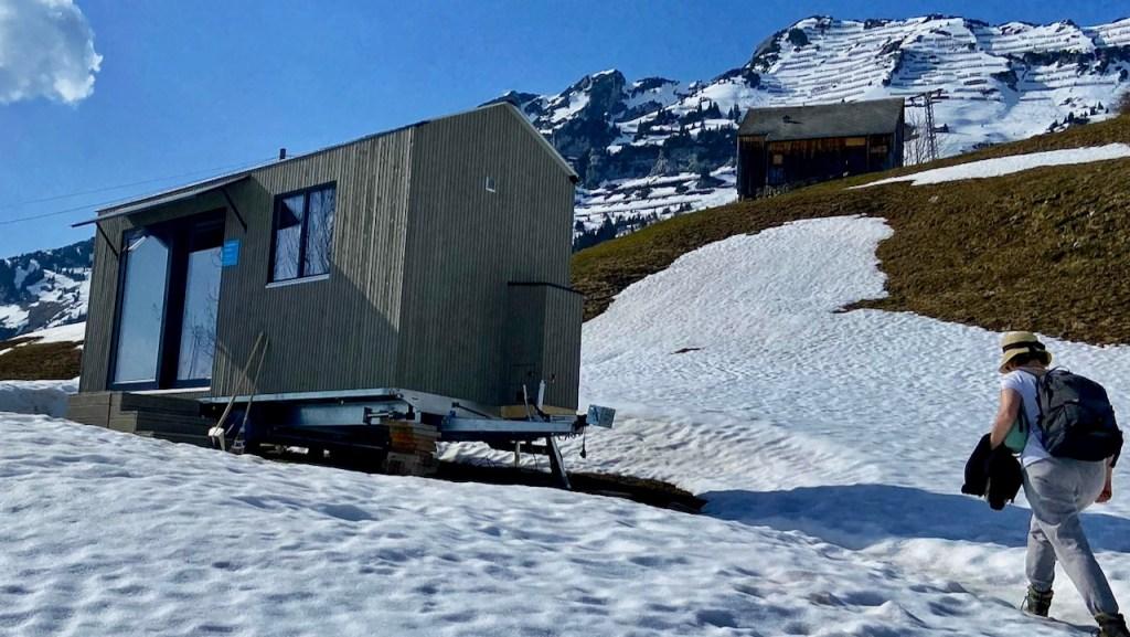 Tiny House in Amden, im Sommer 2021 im Thurgau aufgestellt.