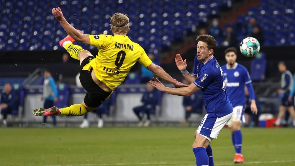 Haalands traumhafter Seitfallzieher: BVB gewinnt Derby