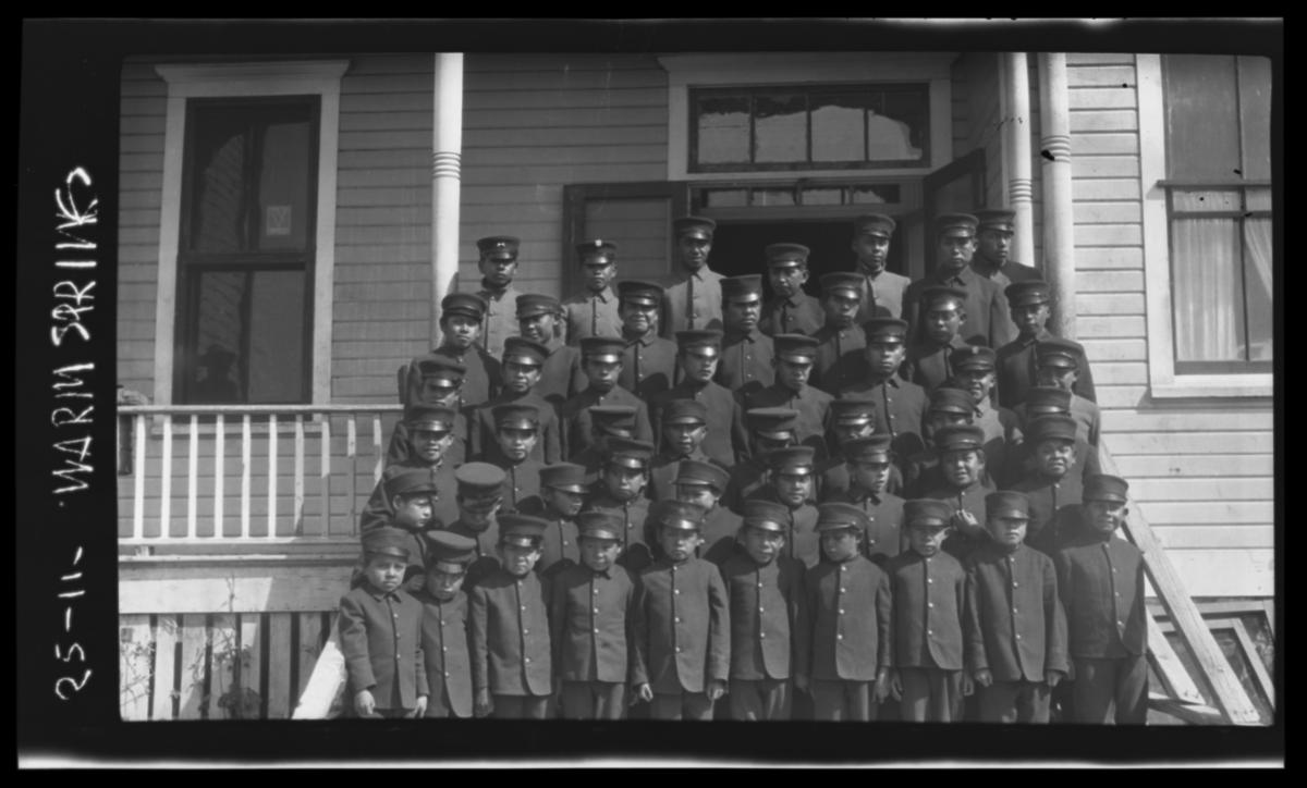 Wasco Paiute And Warm Spring Indian Boys In Uniform At