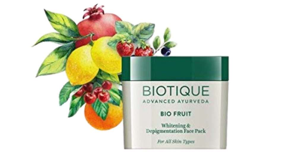 Biotique Bio Fruit Whitening and Depigmentation Face Pack is the july beauty brands bestseller.